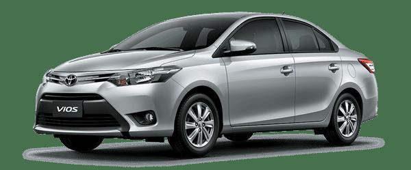 Mẫu Toyota Vios màu bạc