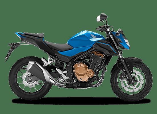 Mẫu Honda CB500F màu xanh đen