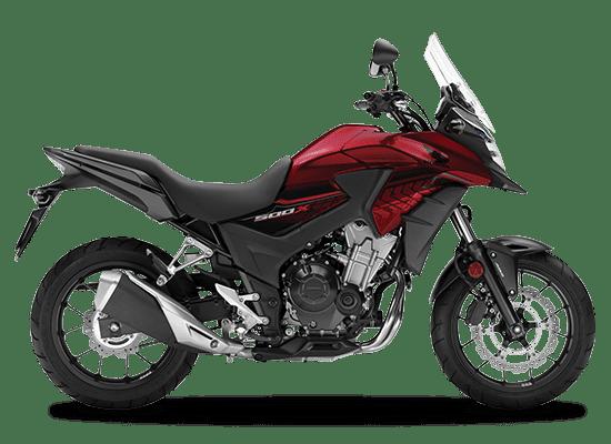 Mẫu Honda CB500X màu đỏ đen