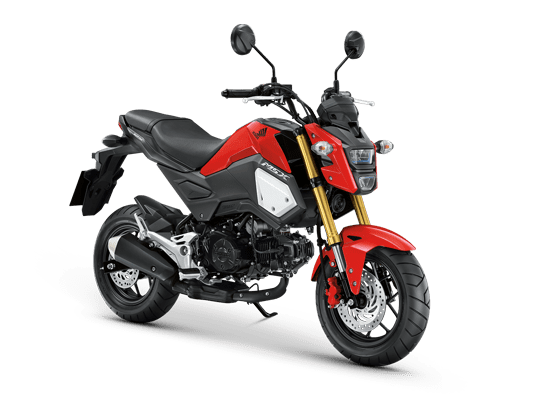 Mẫu Honda MSX màu đỏ đen