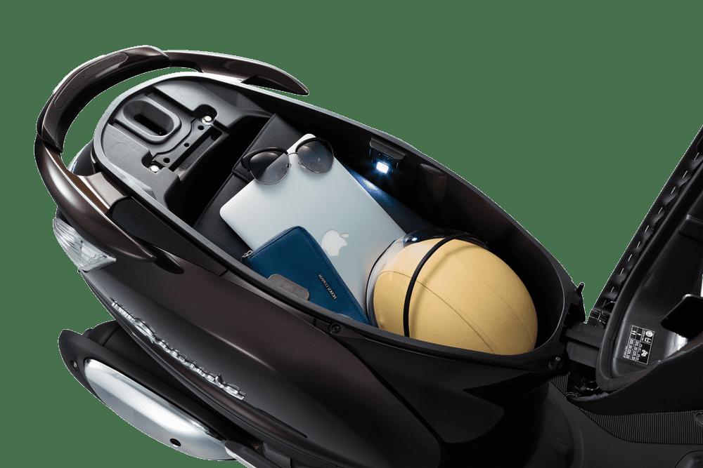Kích thước cốp xe Yamaha Grande