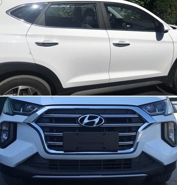 Thiết kế sườn xe và đầu xe của Hyundai Tucson 2019 ở Trung Quốc
