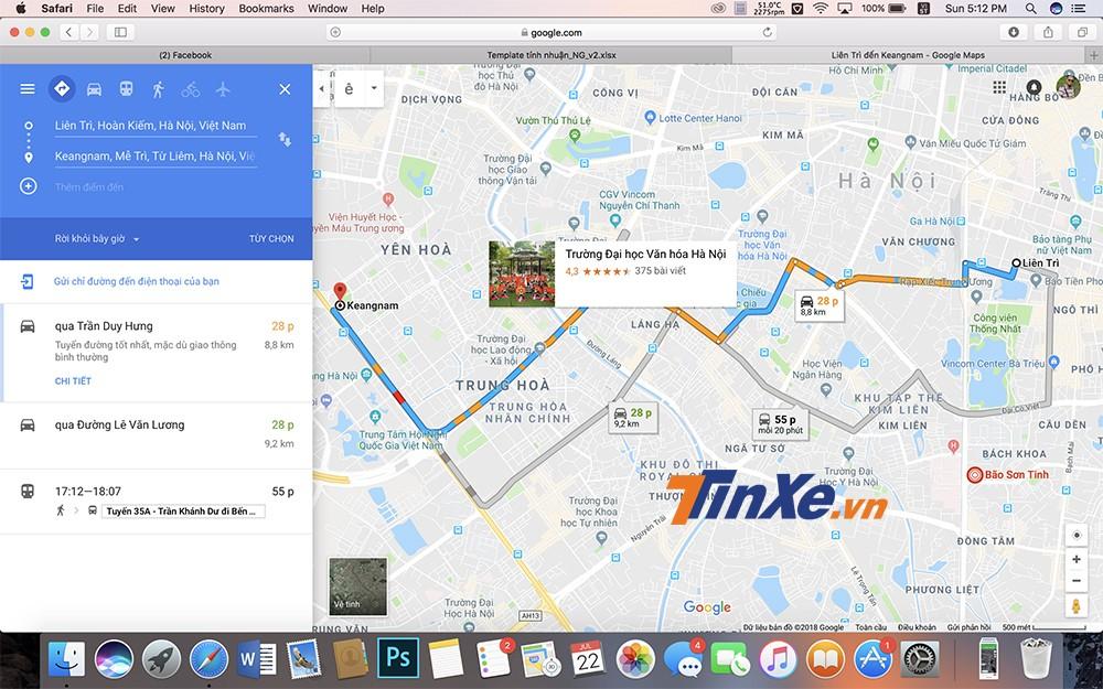 Người dùng có thể sử dụng cả ứng dụng Google Map trên điện thoại và trên web để có thể xem trước tình trạng giao thông.