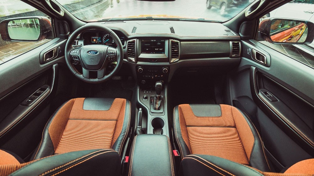 Thiết kế nội thất của Ford Ranger