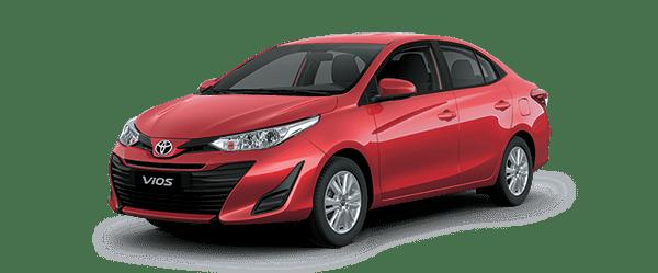 Ngoại thất Toyota Vios màu đỏ