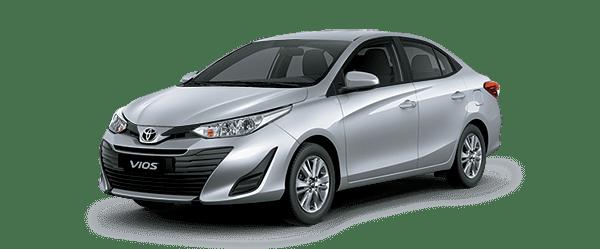 Ngoại thất Toyota Vios màu bạc