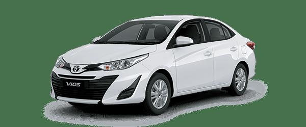Ngoại thất Toyota Vios màu trắng