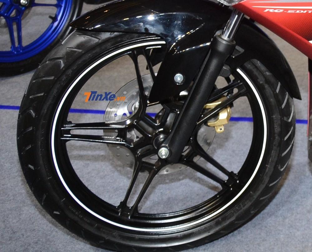 Phuộc trước của Yamaha Exciter 150 2019 vẫn sử dụng của bản cũ