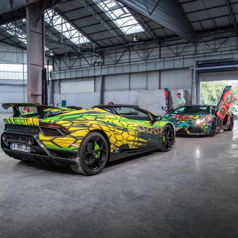 Lamborghini Aventador LP700-4 và Lamborghini Huracan Performante Spyder của nhóm POG