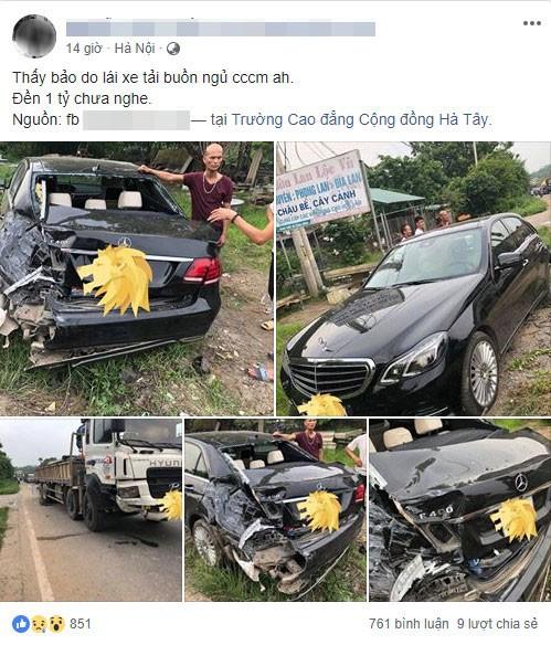 Hình ảnh và thông tin về vụ tai nạn được đăng lên mạng