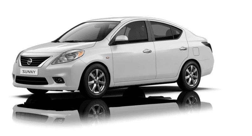 Ngoại thất Nissan Sunny màu trắng