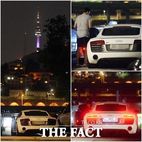 Siêu xe Audi R8 với ngoại hình cực kì thu hút được tiền vệ Hàn Quốc sử dụng.
