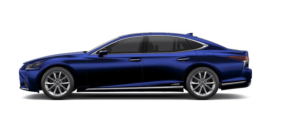 Ngoại thất Lexus LS màu xanh