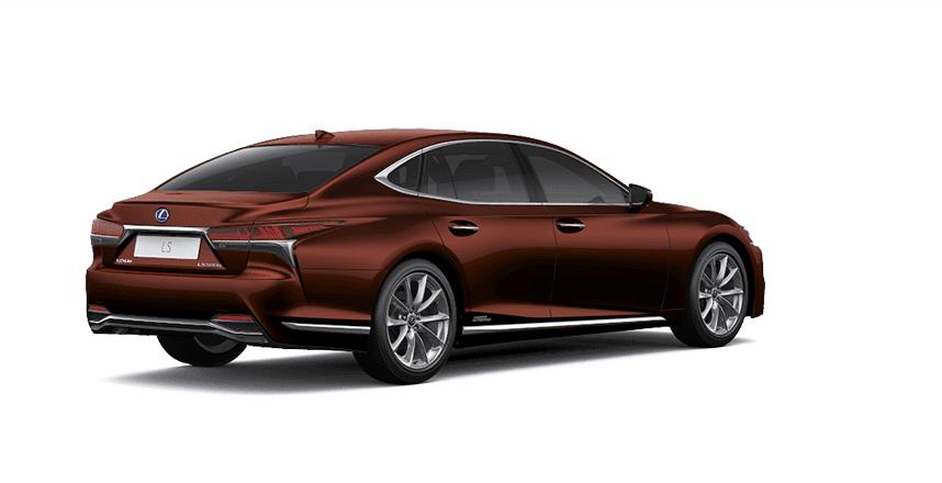 Ngoại thất Lexus LS màu nâu