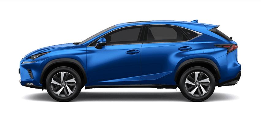 Ngoại thất Lexus NX màu xanh