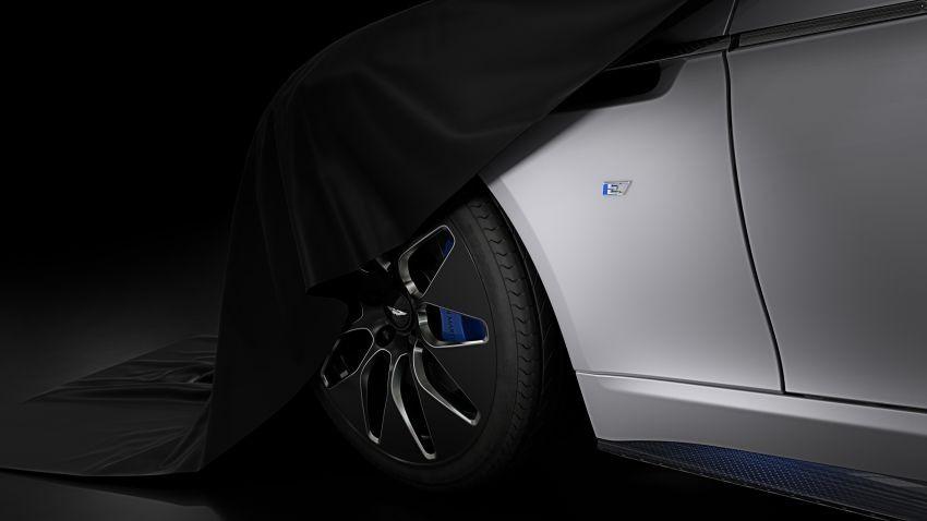 Hình ảnh úp mở về mẫu xe điện Aston Martin Rapide E