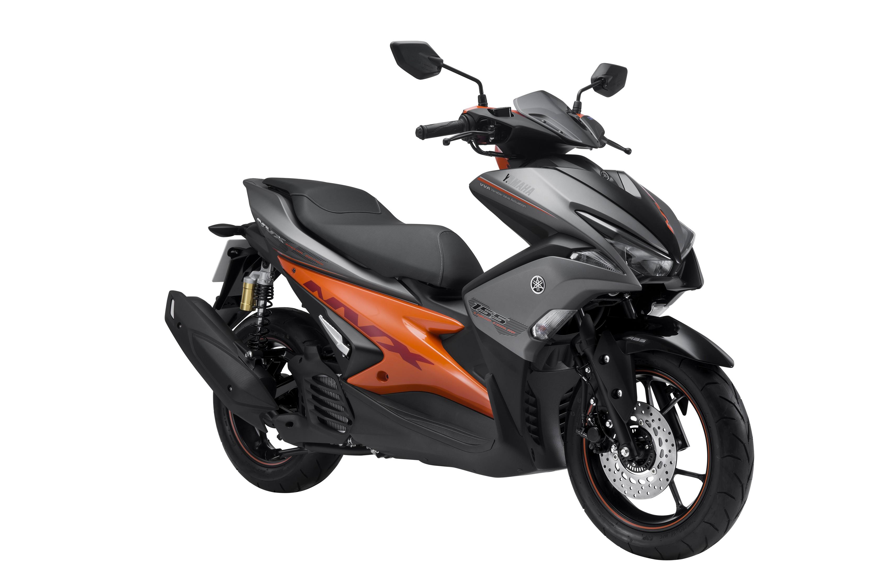 Yamaha NVX 155 ABS màu Xám Cam Đen