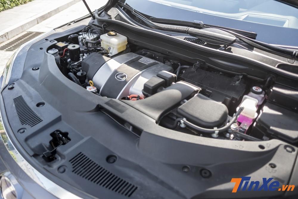 Động cơ xăng kết hợp động cơ điện là điểm nhấn của Lexus RX450h 2018.