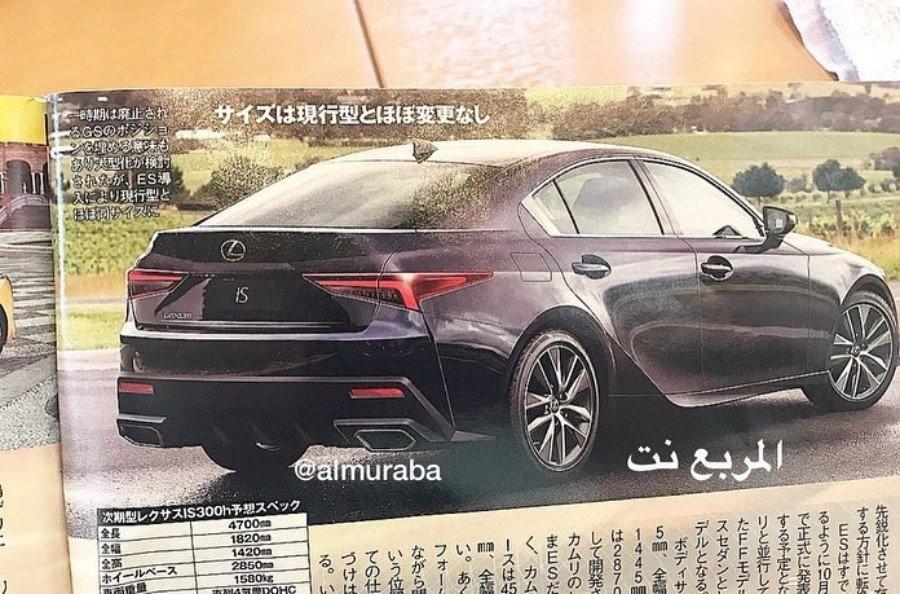 Lexus IS thế hệ tiếp theo nhìn từ phía sau