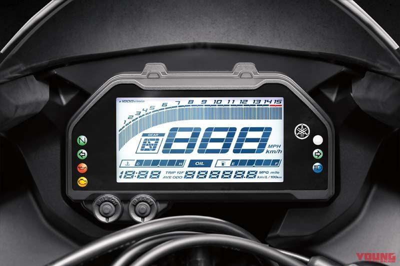 Cụm đồng hồ điện tử hoàn toàn mới trên Yamaha R3 và R25 phiên bản 2019