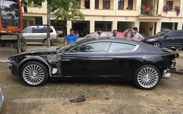 2 chiếc xe sang Aston Martin (trong ảnh) và Bentley có liên quan đến nhân viên Tổng lãnh sự quán Lào và Campuchia
