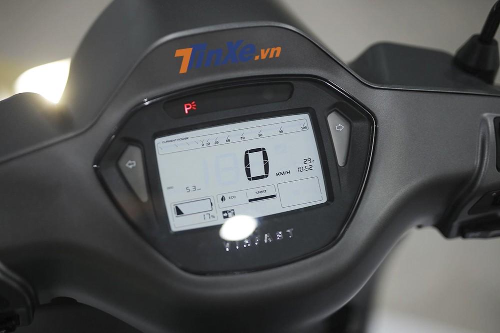 Bảng đồng hồ của xe là loại màn hình LCD với đèn nền LED, giúp hiển thị rõ ràng các thông số của xe