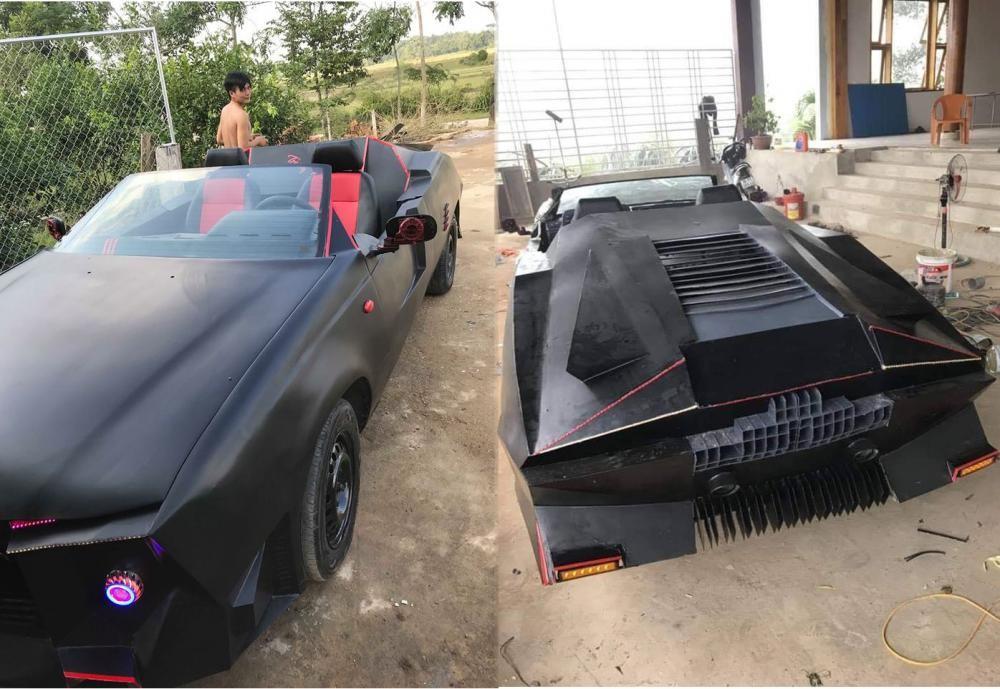 Ngoại hình xe trở nên khá hầm hố với phần đầu và đuôi xe trông như những chiếc xe Batman