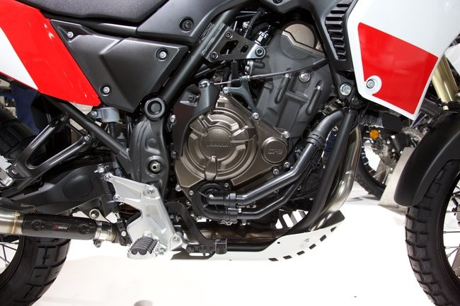 CP2 engine block on the Yamaha Tenere 700