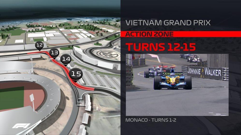 Khúc cua 12-15 lấy cảm hứng từ đường đua Monaco