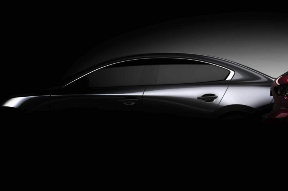 Dáng vẻ úp mở của Mazda3 2019 bảnsedan
