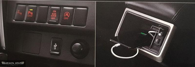 2 cổng USB cho hàng ghế sau