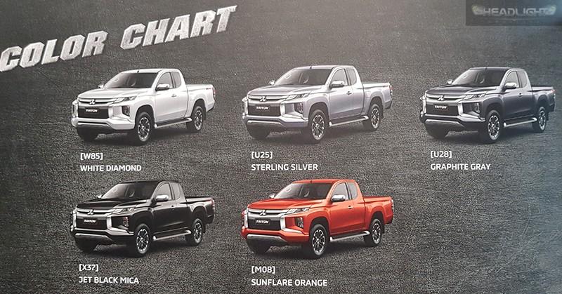 5 tùy chọn màu sơn của Mitsubishi Triton 2019 tại thị trường Thái Lan
