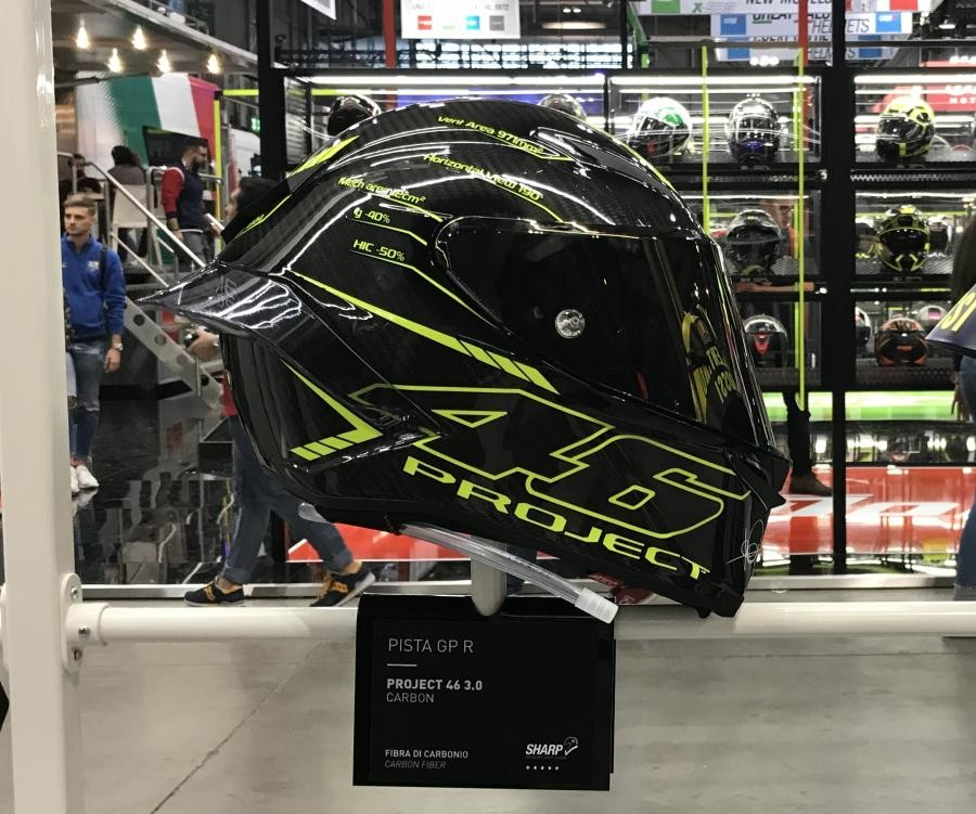 AGV Pista product line with the new 46 series of beautiful stamps of the helmet manufacturer