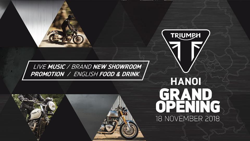 Triumph Việt Nam khai trương Showroom tại Hà Nội