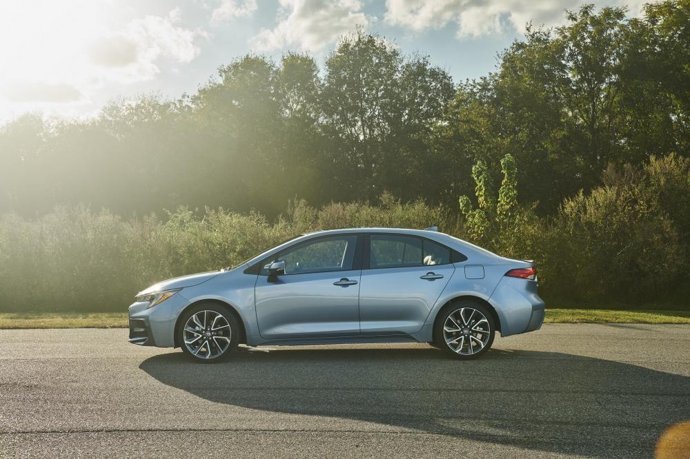 Thiết kế bên sườn của Toyota Corolla Sedan 2020