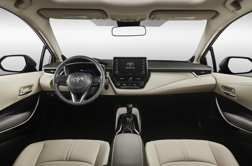 Nội thất bên trong Toyota Corolla Sedan 2020 ở thị trường Bắc Mỹ