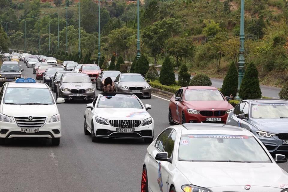 Có khoảng 45 xe tham dự vào sự kiện sinh nhật lần thứ 9 của đoàn BMW Fan Club