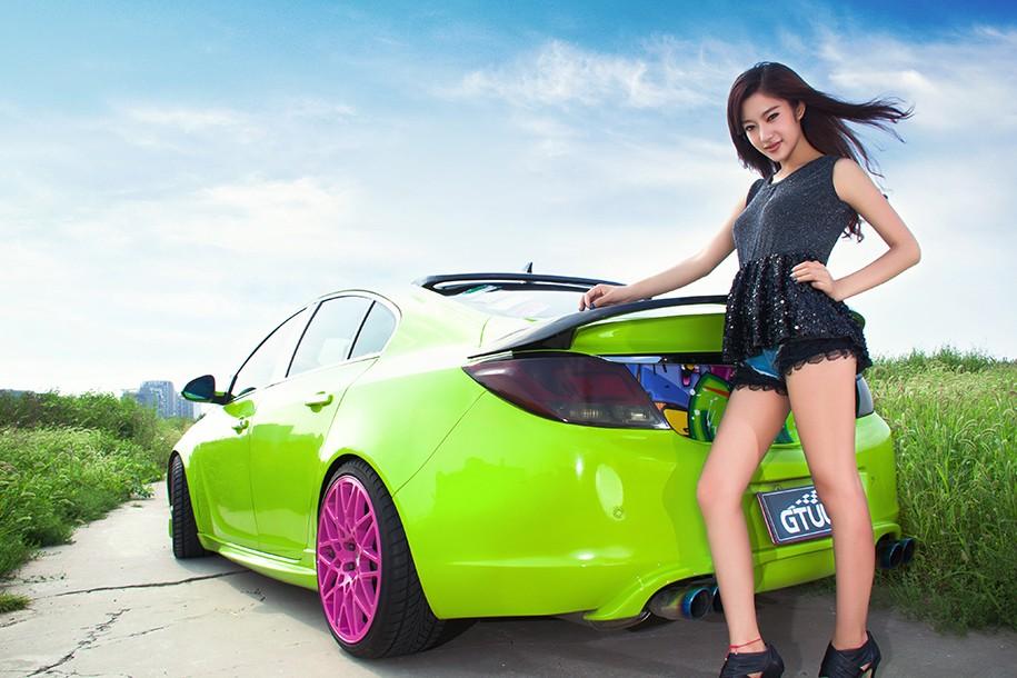 Hot girl Uyển Đình khoe sắc đẹp khỏe khoắn bên chiếc Buick độ xanh mướt - 3