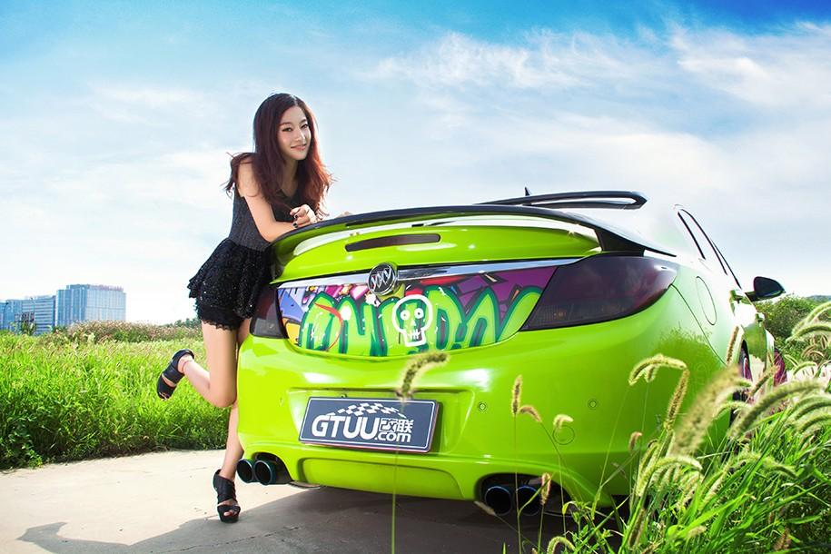 Hot girl Uyển Đình khoe sắc đẹp khỏe khoắn bên chiếc Buick độ xanh mướt - 5