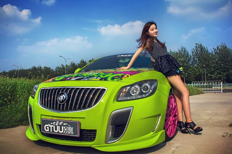 Hot girl Uyển Đình khoe sắc đẹp khỏe khoắn bên chiếc Buick độ xanh mướt - 7