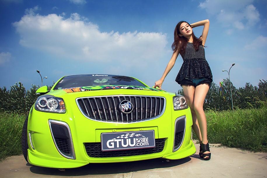Hot girl Uyển Đình khoe sắc đẹp khỏe khoắn bên chiếc Buick độ xanh mướt - 6