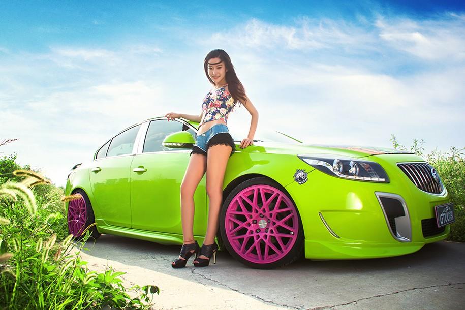 Hot girl Uyển Đình khoe sắc đẹp khỏe khoắn bên chiếc Buick độ xanh mướt - 14