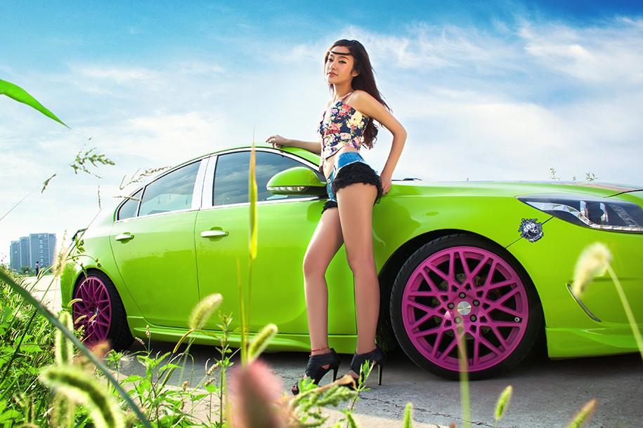 Hot girl Uyển Đình khoe sắc đẹp khỏe khoắn bên chiếc Buick độ xanh mướt - 15