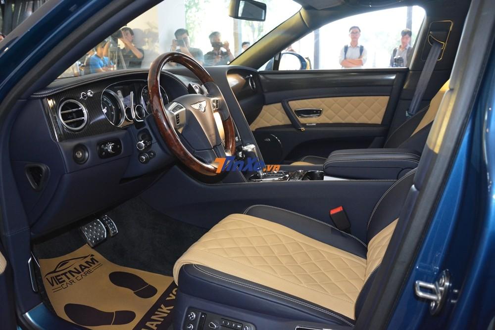 Hãng Bentley Việt Nam đã tự lên cấu hình cho chiếc xe siêu sang Bentley Flying Spur V8 S đầu tiên tại Việt Nam