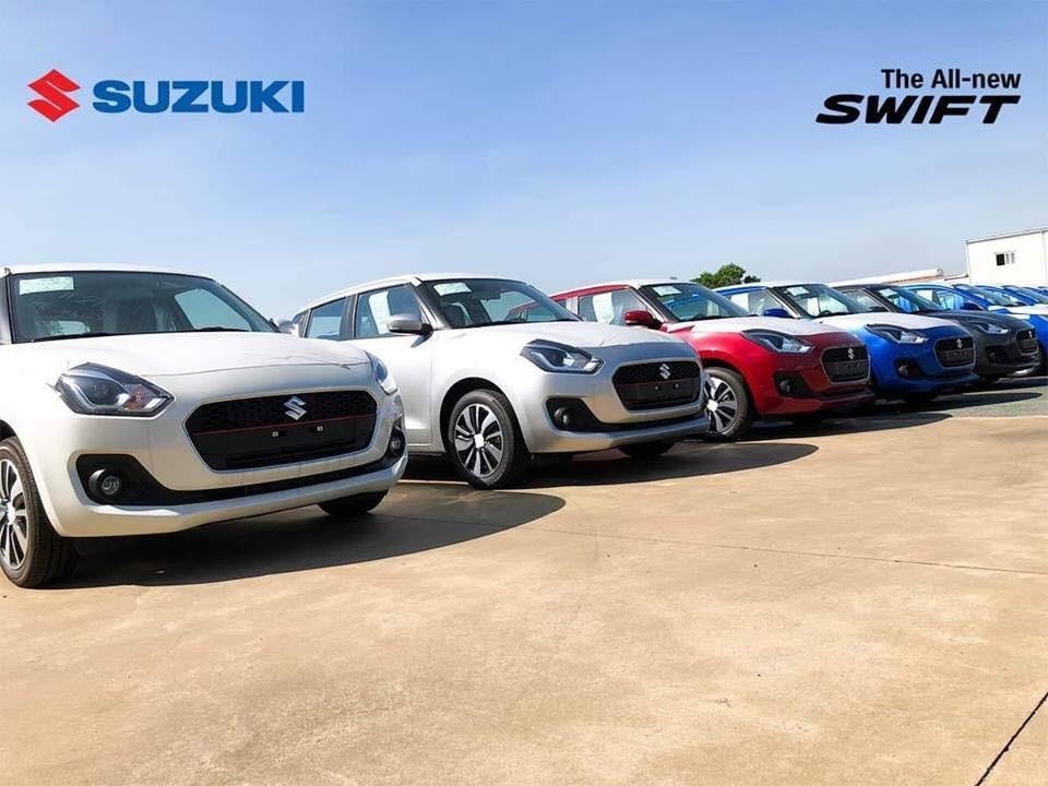 Lô xe Suzuki Swift 2018 được nhập khẩu từ Thái Lan về Việt Nam
