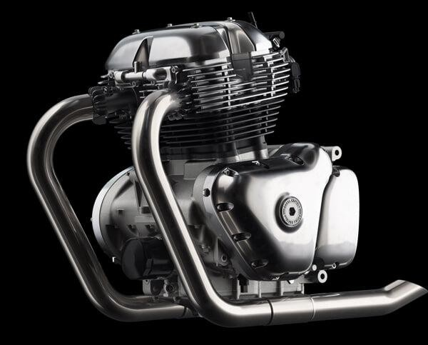 The brand new 650 cc engine block of the Indian automaker