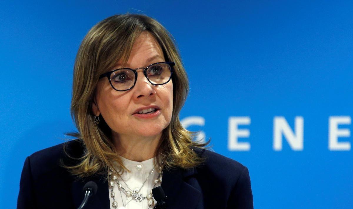 CEO GM, bà Mary Barry phát biểu trong một buổi họp báo chí hồi tháng 1 năm 2018