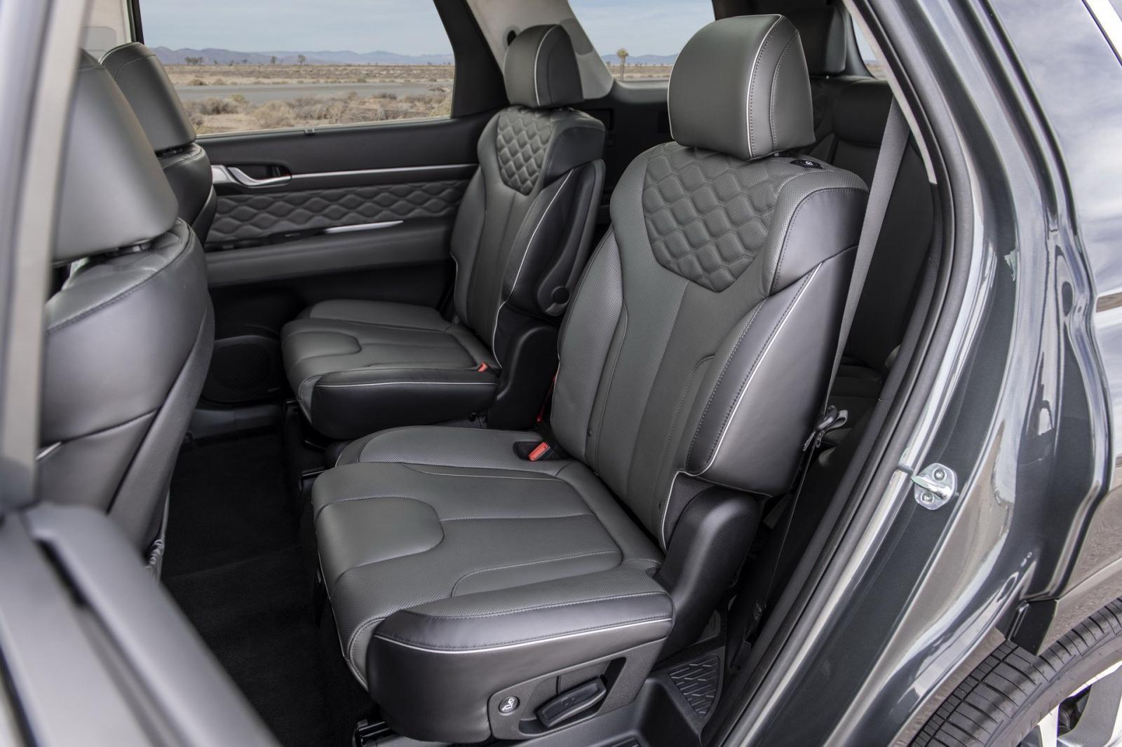 Hàng ghế thứ hai của Hyundai Palisade 2020