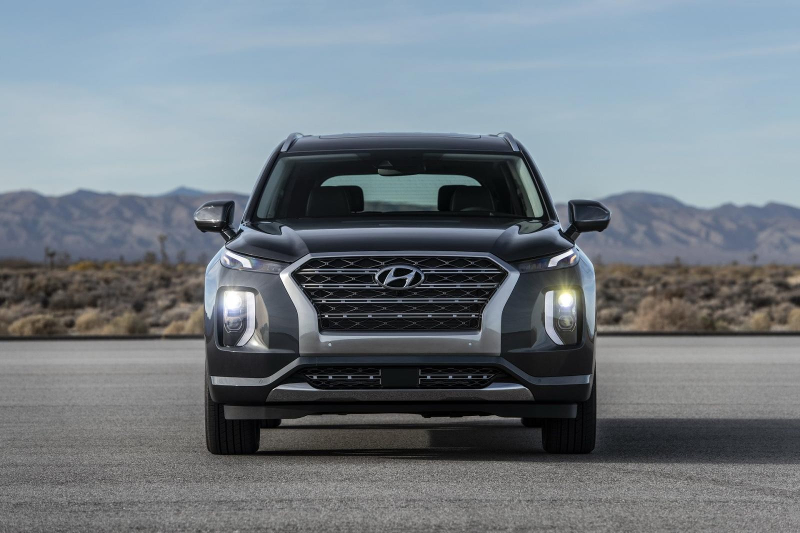Cận cảnh thiết kế đầu xe của Hyundai Palisade 2020