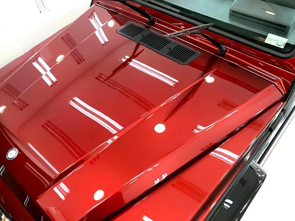 Cận cảnh màu sơn Tomato Red hơn 1 tỷ đồng trên chiếc Mercedes-Benz G63 AMG